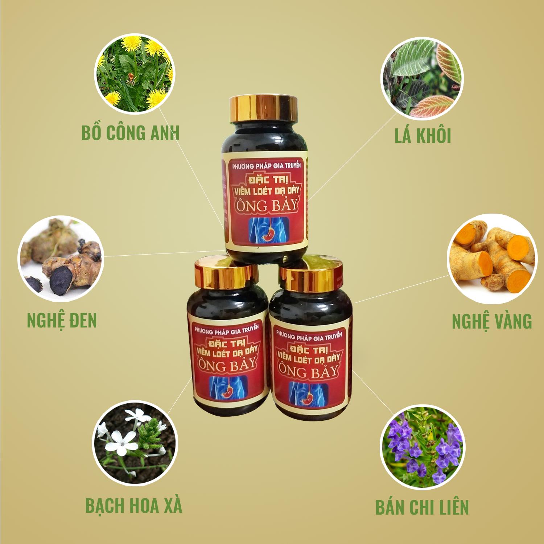 Các thành phần trong thuốc đặc trị dạ dày Ông Bảy